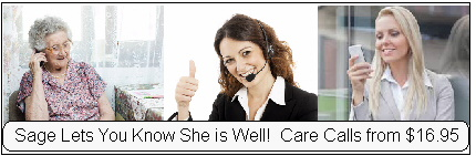 care call ad with women on phone care calls